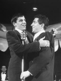 Comedian Jerry Lewis Singing with His Partner Dean Martin  at the Copacabana