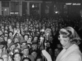 """Singer Rosemary Clooney at the Premiere of Her Movie """"Stars are Singing"""""""