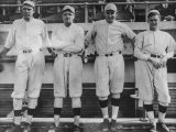 Undated of Baseball Players Ernie Shore  Babe Ruth  Carl Mays  and Dutch Leonard