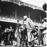 An Ailing Babe Ruth Thanking Crowd During Babe Ruth Day at Yankee Stadium
