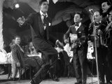 Comedian Jerry Lewis  Dancing to the Quartet's Music  at the Copacabana