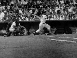 Giants Player  Willie Mays  Batting During Game with Dodgers
