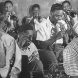 "Dizzy Gillespie  ""Bebop"" King  with His Orchestra at a Jam Session"