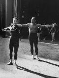"""Ballerina Maria Tallchief and Andre Eglevsky Rehearsing """"Swan Lake"""""""