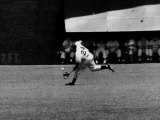 Giants Player  Willie Mays  Running to Catch Ball in Out Field