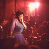 "Jazz Singer Ella Fitzgerald Performing at ""Mr. Kelly's"" Nightclub Aluminium par Yale Joel"
