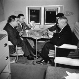 Men Playing a Card Game While Riding Aboard the Atlantic Clipper