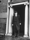 Richard Mulcahey Standing in the Doorway of the Fine Gael Headquarters