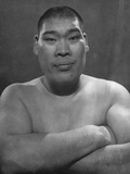 Portrait of Tomojiro Sakata  Former Sumo Wrestling Champion and Candidate for People's Labor Party