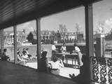 The Patio of the Delta Delta Delta House Being Used for Ping Pong  Sun Bathing and Outdoor Eating