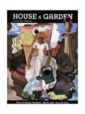 House & Garden Cover - March 1934 Giclée premium par Georges Lepape
