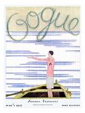 Vogue Cover - June 1927 Giclée premium par Georges Lepape