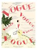 Vogue Cover - June 1924 - En Vogue Giclée premium par Georges Lepape
