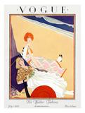 Vogue Cover - July 1923 Giclée premium par George Wolfe Plank