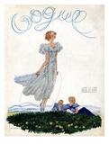 Vogue Cover - June 1933 Giclée premium par Georges Lepape