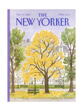 The New Yorker Cover - October 14  1985