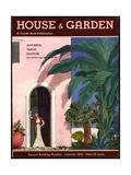 House & Garden Cover - January 1933 Giclée premium par Georges Lepape