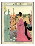 Vogue Cover - March 1918 Giclée premium par Helen Dryden
