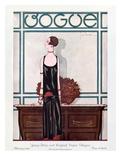Vogue Cover - February 1925 Giclée premium par Georges Lepape