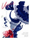 Vogue Cover - June 1935 - Paris Parasol Reproduction d'art par Jean Pagès