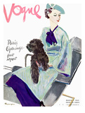 Vogue Cover - March 1935 Giclée premium par Pierre Mourgue