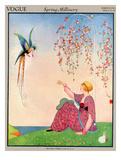 Vogue Cover - March 1914 Giclée premium par George Wolfe Plank