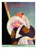 Vogue Cover - January 1927 Giclée premium par George Wolfe Plank