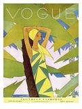 Vogue Cover - January 1927 - Among the Palms Giclée premium par Eduardo Garcia Benito