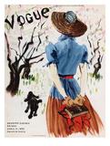 Vogue Cover - April 1938 - Into the Woods Giclée premium par René Bouét-Willaumez