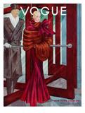 Vogue Cover - October 1933 Giclée premium par Georges Lepape