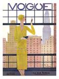 Vogue Cover - May 1928 - City View Giclée premium par Georges Lepape
