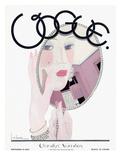 Vogue Cover - November 1927 Giclée premium par Georges Lepape