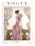Vogue Cover - April 1923 - Pink Evening Gown Giclée premium par Georges Lepape