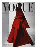 Vogue Cover - November 1946 - Red Gown Giclée premium par Horst P. Horst