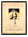 Vogue Cover - February 1919 Giclée premium par Harriet Meserole