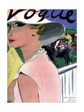 "Vogue Cover - April 1933 Giclée premium par Carl ""Eric"" Erickson"