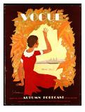 Vogue Cover - July 1930 Giclée premium par Georges Lepape