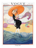 Vogue Cover - July 1919 - Seaside Stroll Giclée premium par Helen Dryden