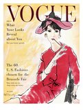 Vogue Cover - April 1958 - Power Suit Giclée premium par René R. Bouché