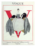 Vogue Cover - September 1920 - Wrapped in Feathers Giclée premium par Georges Lepape