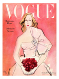 "Vogue Cover - December 1945 - Everthing's Coming Up Roses Giclée premium par Carl ""Eric"" Erickson"