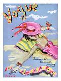Vogue Cover - June 1939 - Sun Bathing Giclée premium par Christian Berard