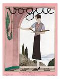 Vogue Cover - August 1929 Giclée premium par André E. Marty