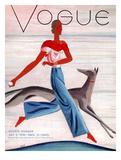 Vogue Cover - July 1930 Reproduction d'art par Eduardo Garcia Benito