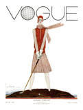 Vogue Cover - July 1929 - Tee Time Giclée premium par Georges Lepape