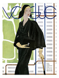 Vogue Cover - April 1930 Giclée premium par Pierre Mourgue