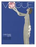 Vogue Cover - December 1930 Giclée premium par Georges Lepape