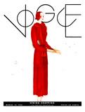 Vogue Cover - March 1931 Giclée premium par Georges Lepape