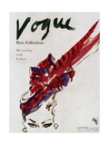 Vogue Cover - April 1946 - Feathered Hat
