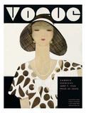 Vogue Cover - June 1930 Giclée premium par Harriet Meserole
